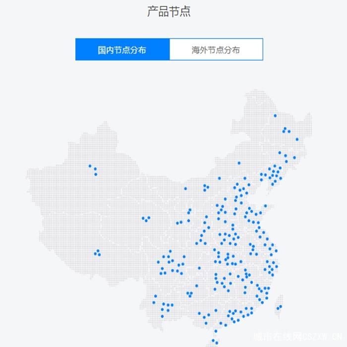 星戈云CDN国内节点分布